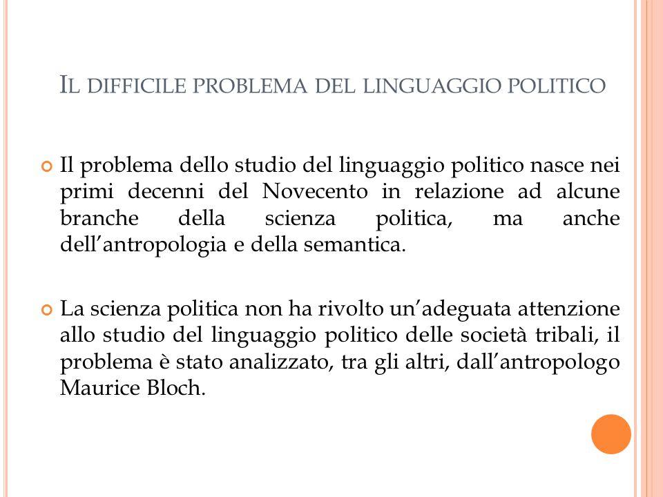 Il difficile problema del linguaggio politico