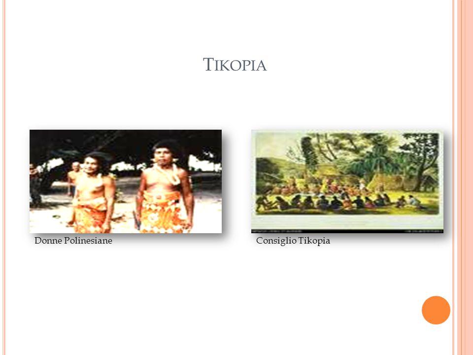 Tikopia Donne Polinesiane Consiglio Tikopia