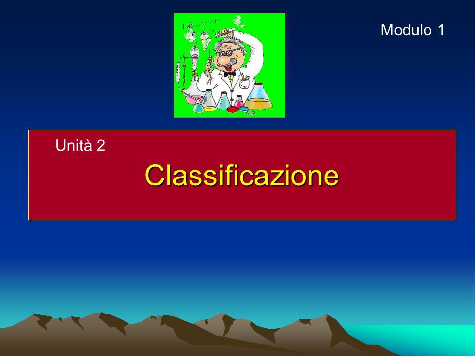 Modulo 1 Classificazione Unità 2