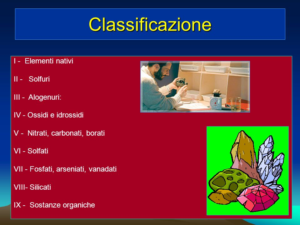 Classificazione I - Elementi nativi