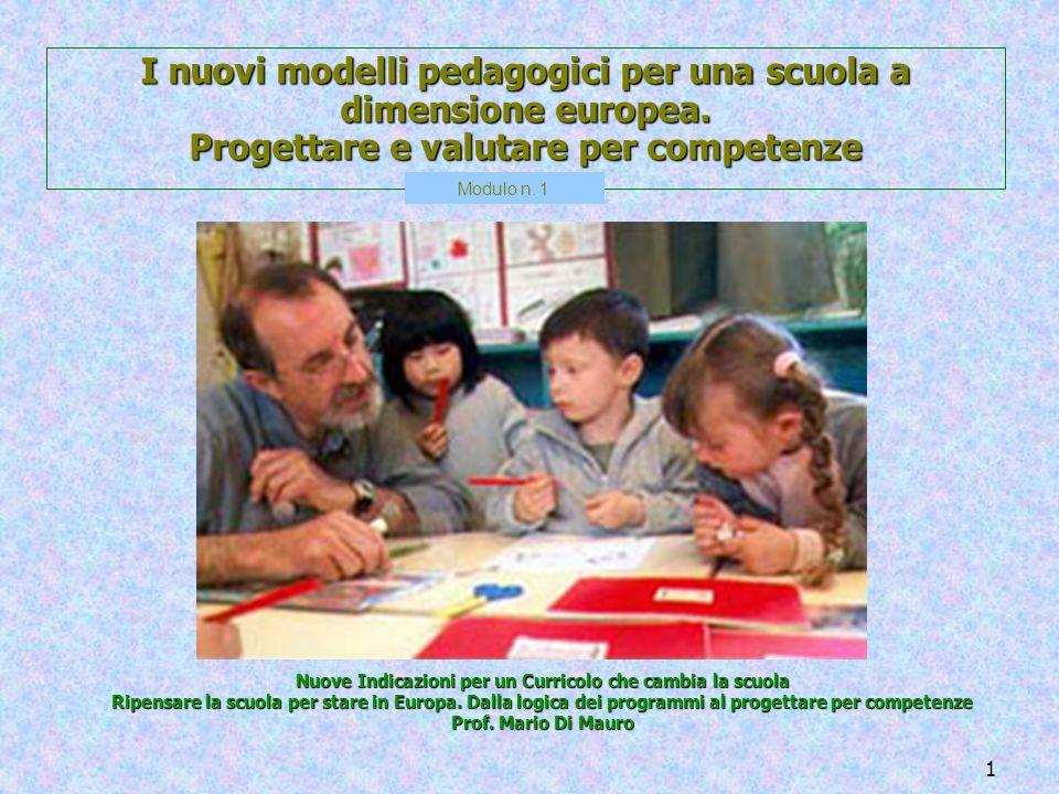 I nuovi modelli pedagogici per una scuola a dimensione europea.