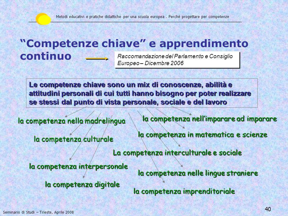 Competenze chiave e apprendimento continuo