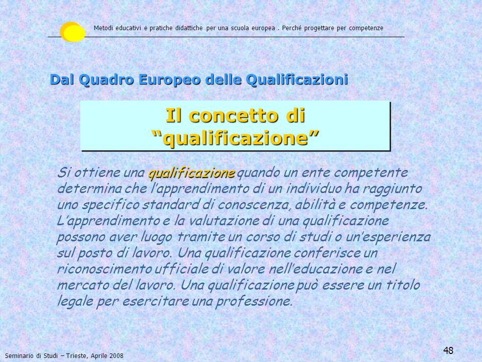 Il concetto di qualificazione