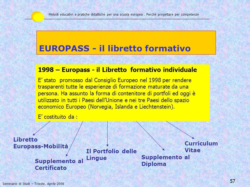 EUROPASS - il libretto formativo