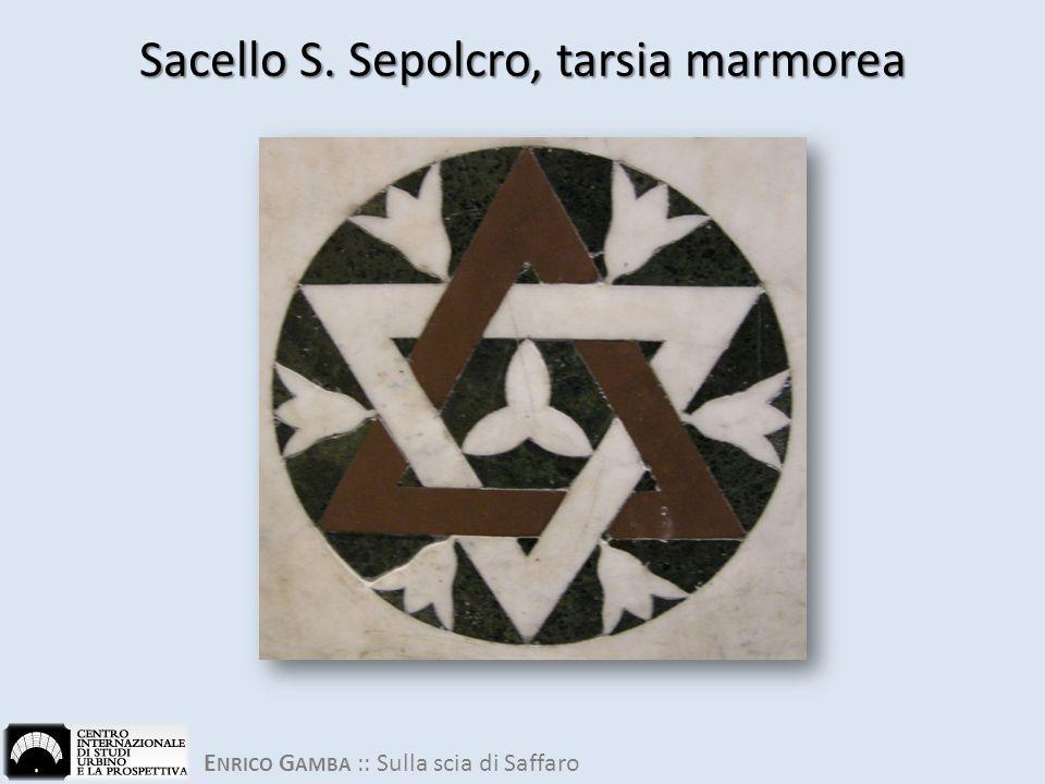 Sacello S. Sepolcro, tarsia marmorea