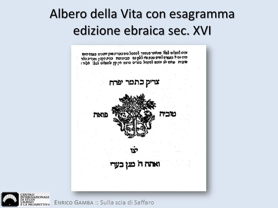 Albero della Vita con esagramma edizione ebraica sec. XVI
