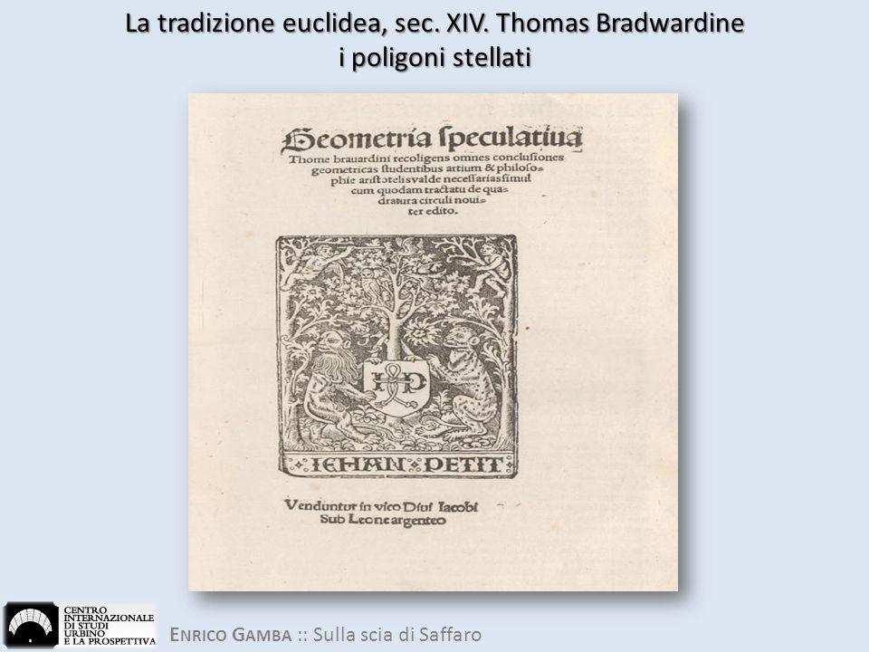 La tradizione euclidea, sec. XIV