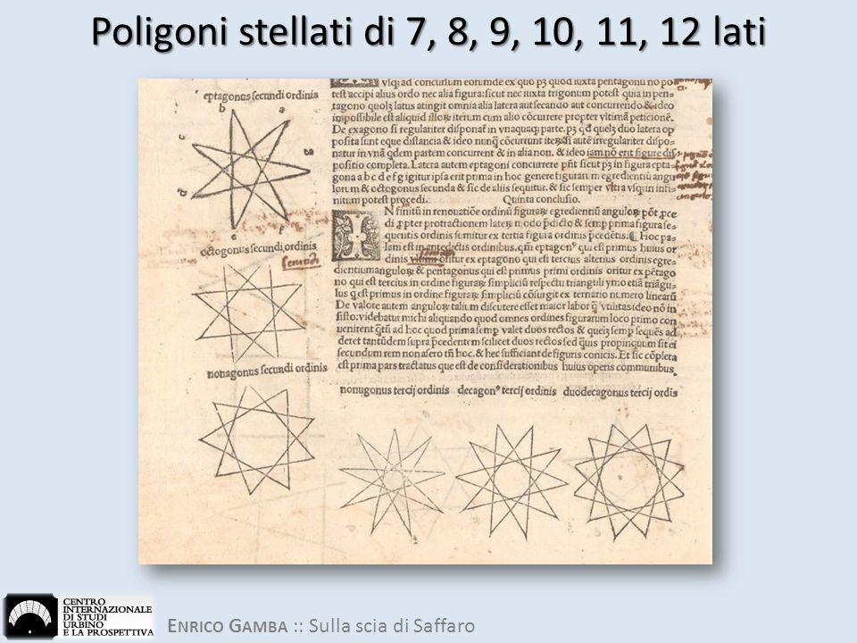 Poligoni stellati di 7, 8, 9, 10, 11, 12 lati