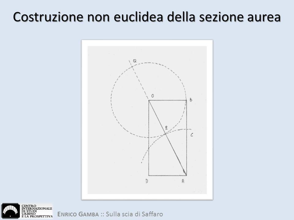 Costruzione non euclidea della sezione aurea
