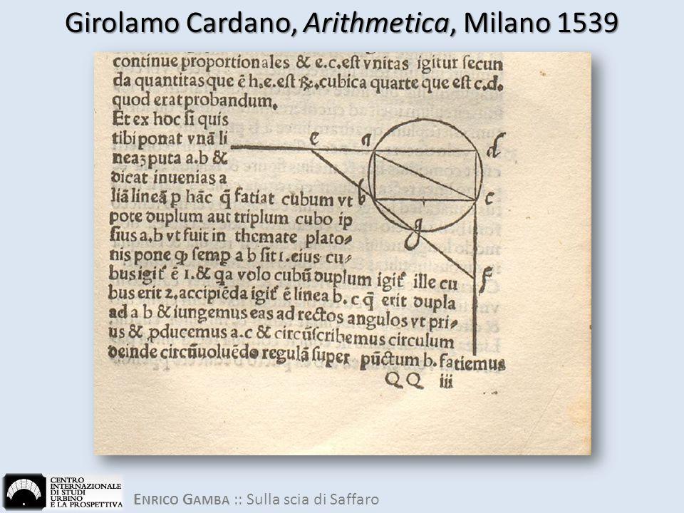 Girolamo Cardano, Arithmetica, Milano 1539