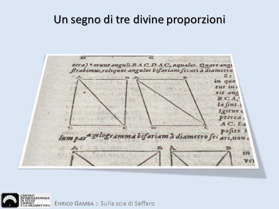 Un segno di tre divine proporzioni