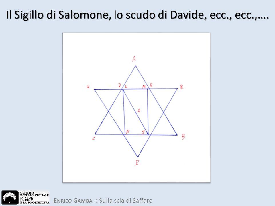 Il Sigillo di Salomone, lo scudo di Davide, ecc., ecc.,….