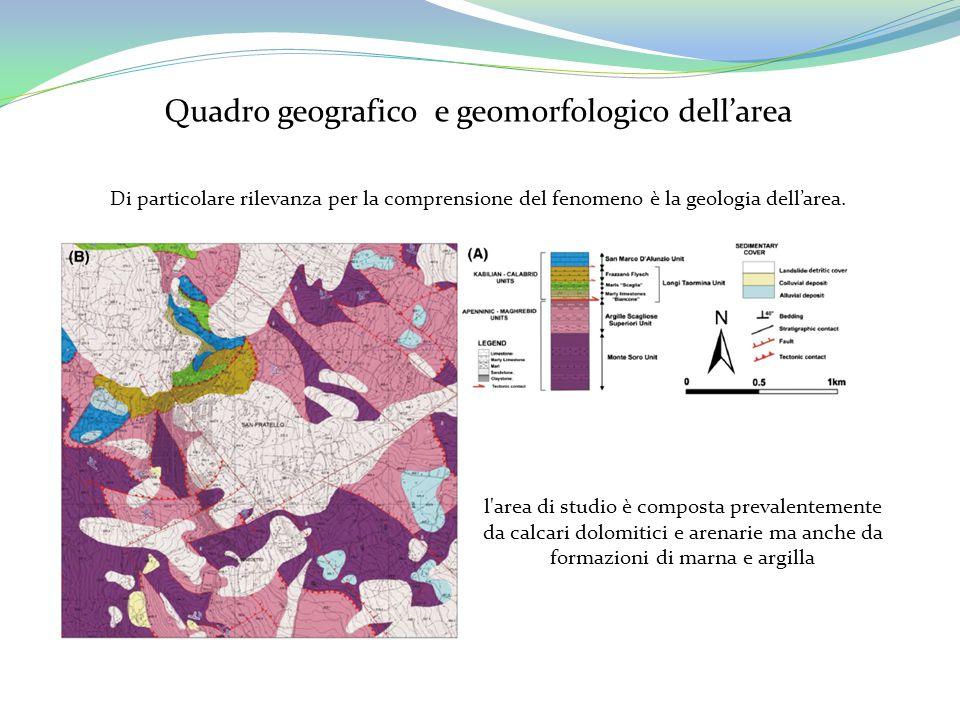 Quadro geografico e geomorfologico dell'area