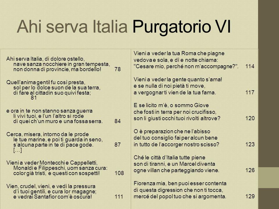 Ahi serva Italia Purgatorio VI