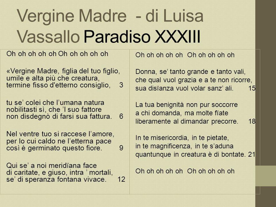 Vergine Madre - di Luisa Vassallo Paradiso XXXIII