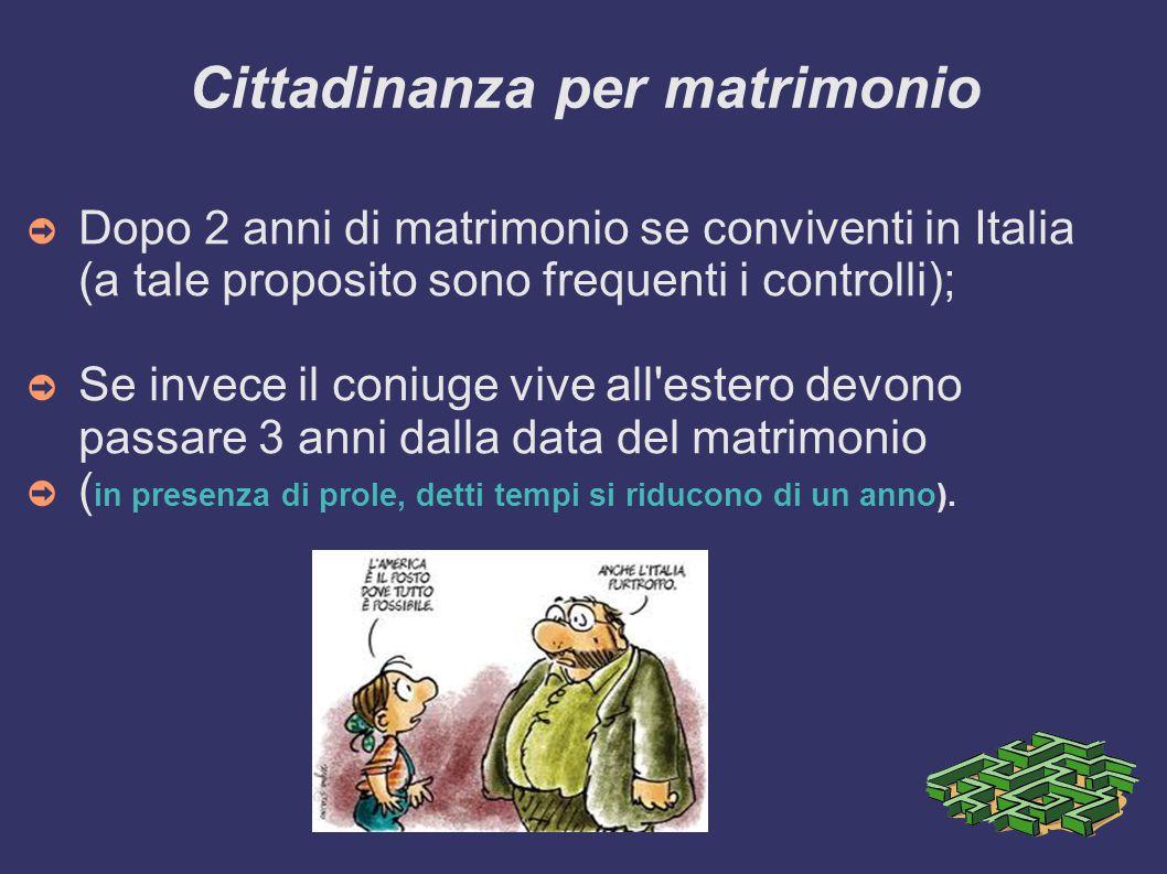 Cittadinanza per matrimonio