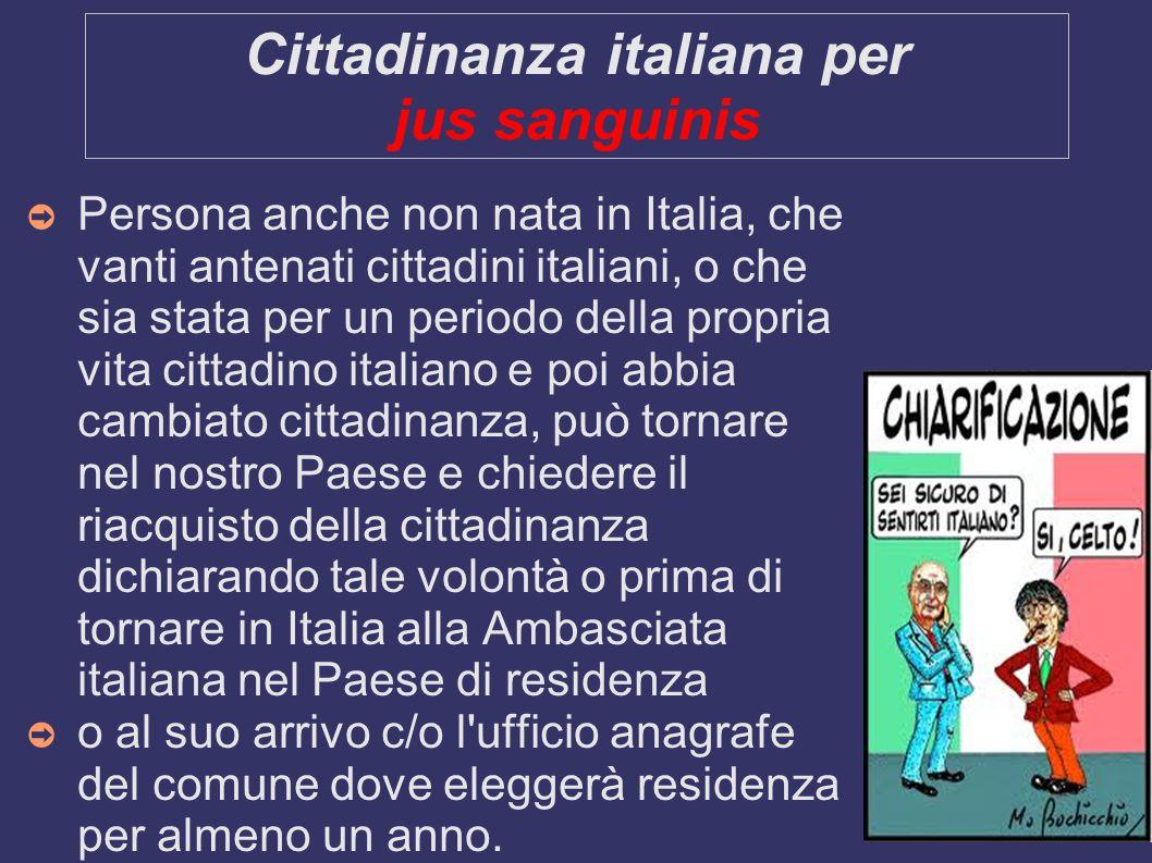 Cittadinanza italiana per jus sanguinis