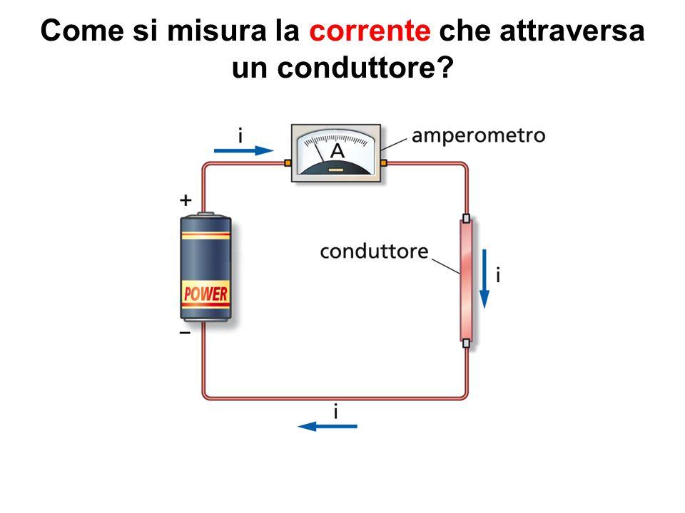 Come si misura la corrente che attraversa un conduttore
