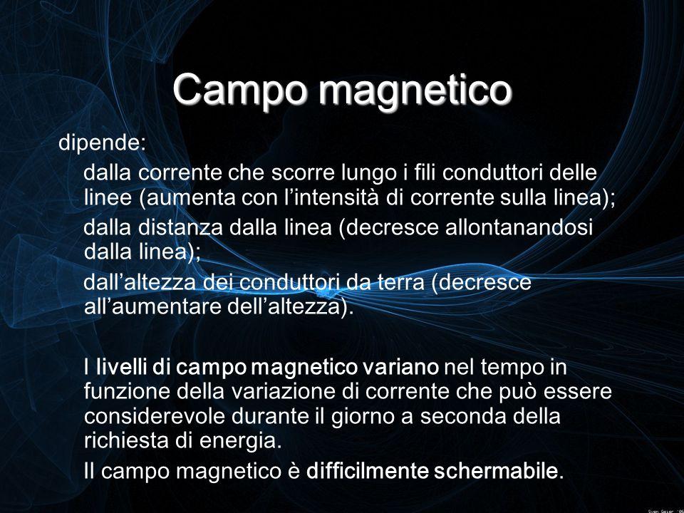 Campo magnetico dipende: