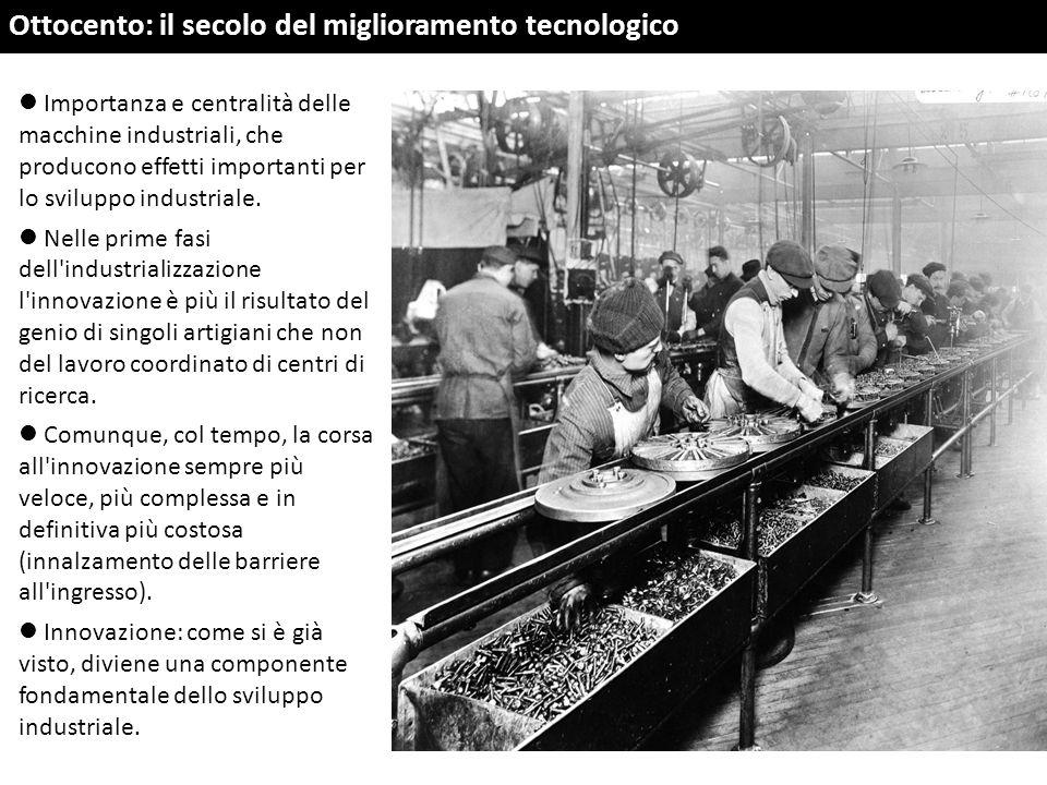 Ottocento: il secolo del miglioramento tecnologico