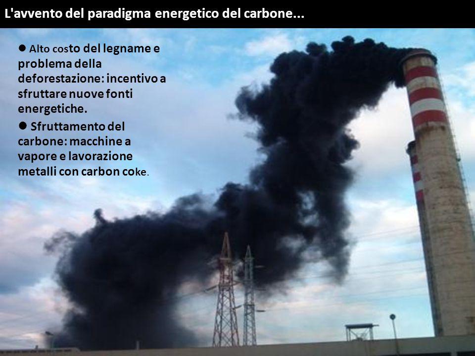 L avvento del paradigma energetico del carbone...