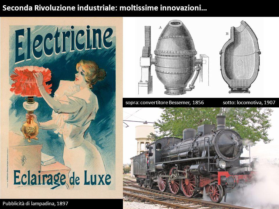 Seconda Rivoluzione industriale: moltissime innovazioni…