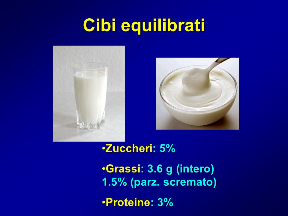 Cibi equilibrati Zuccheri: 5%