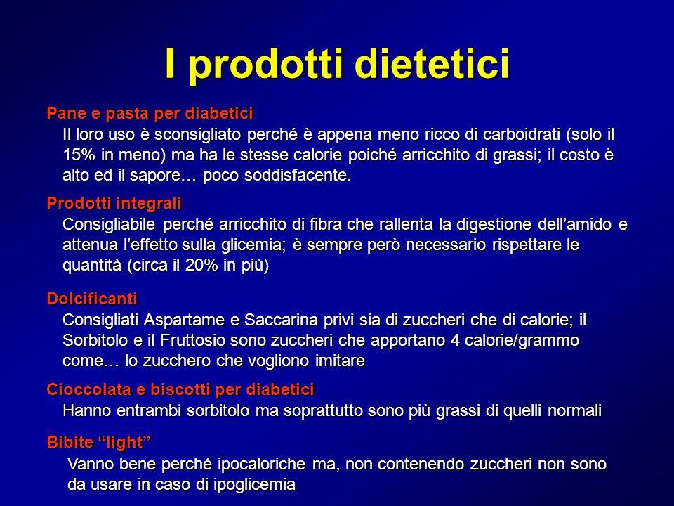 I prodotti dietetici Pane e pasta per diabetici