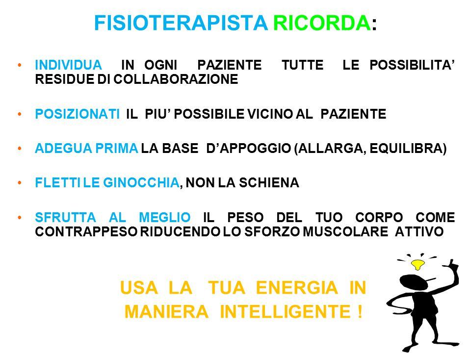 FISIOTERAPISTA RICORDA: