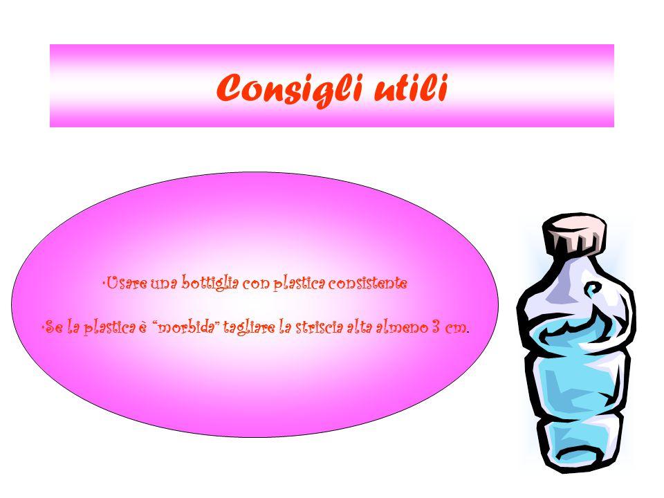 Consigli utili Usare una bottiglia con plastica consistente
