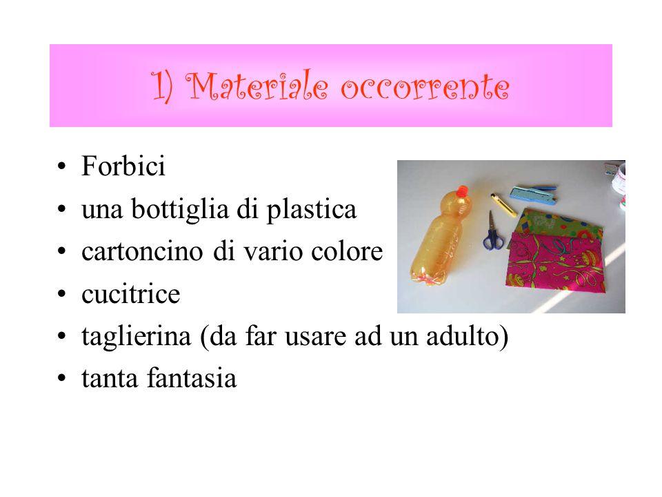 1) Materiale occorrente