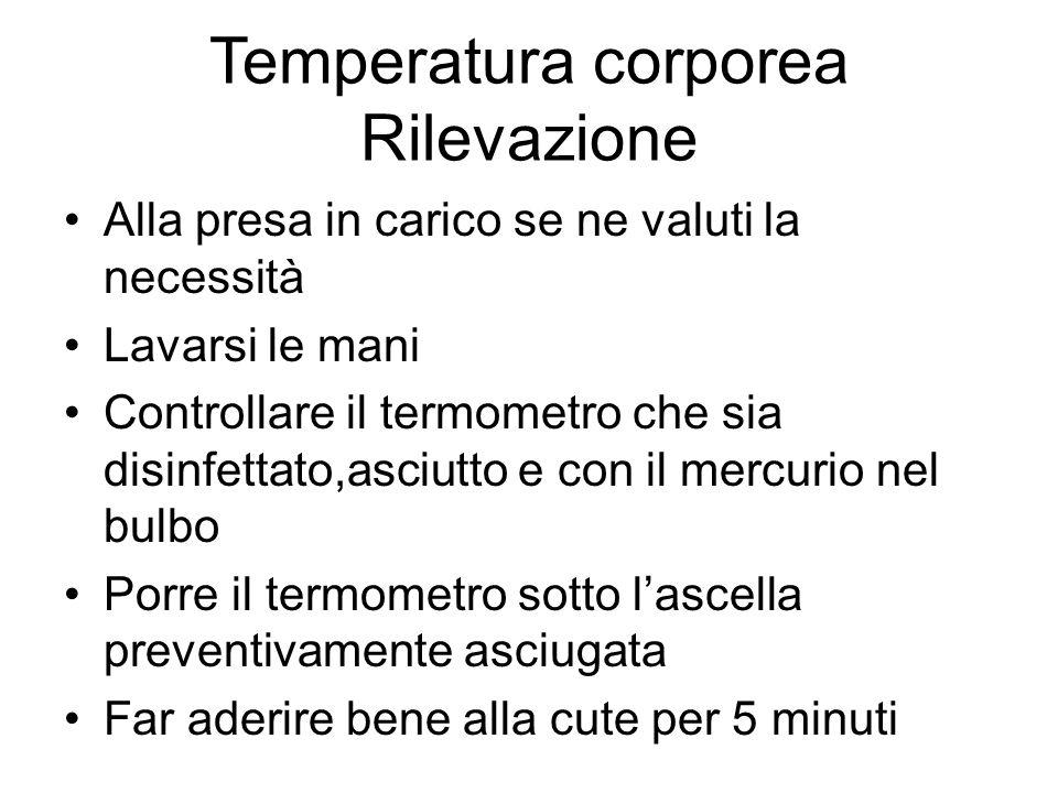 Temperatura corporea Rilevazione