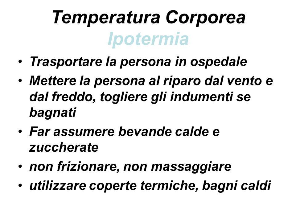 Temperatura Corporea Ipotermia