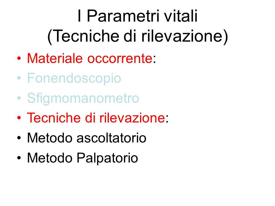 I Parametri vitali (Tecniche di rilevazione)