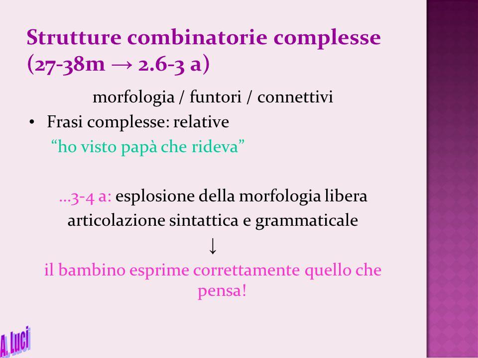 Strutture combinatorie complesse (27-38m → 2.6-3 a)