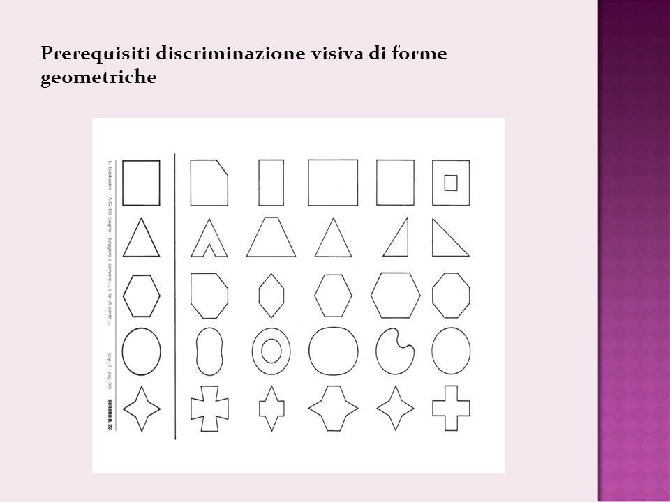 Prerequisiti discriminazione visiva di forme geometriche