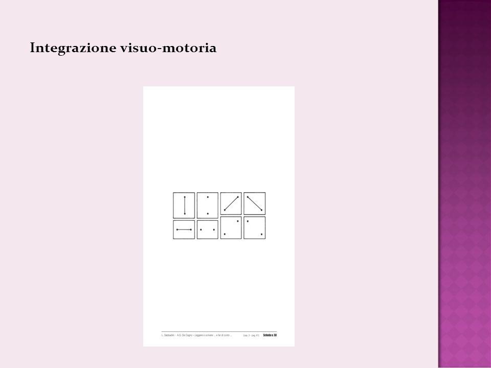 Integrazione visuo-motoria