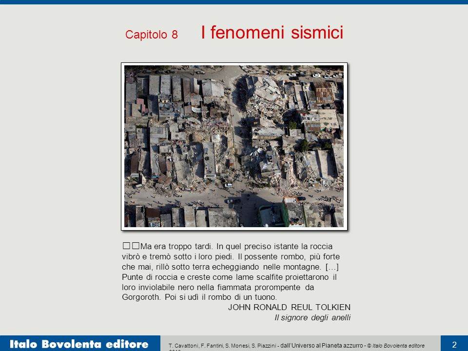 Capitolo 8 I fenomeni sismici