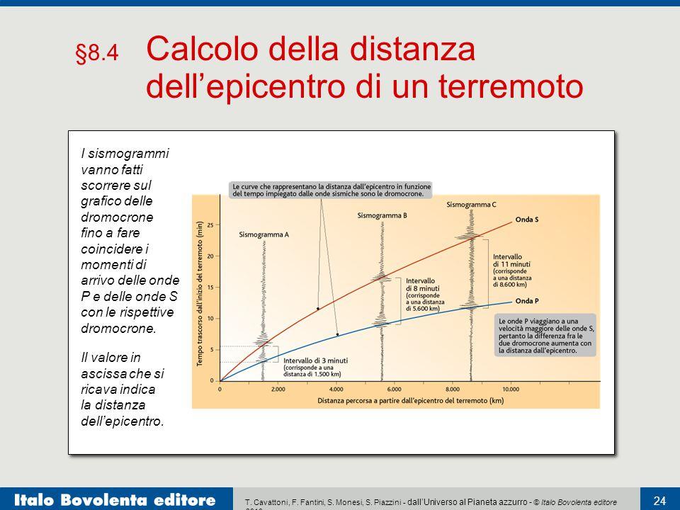 §8.4 Calcolo della distanza dell'epicentro di un terremoto