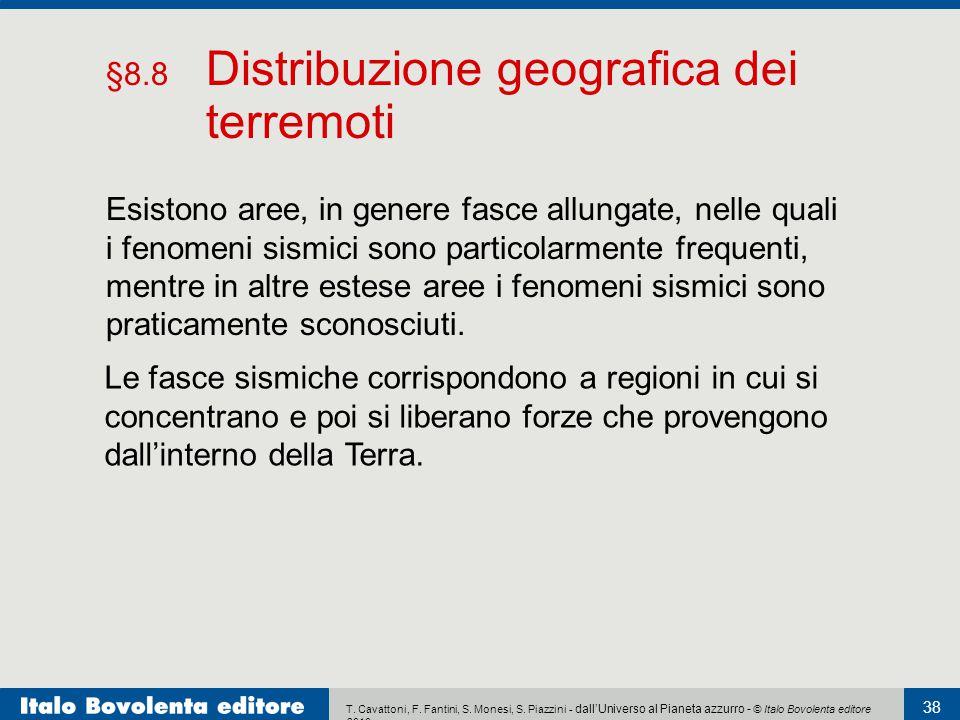 §8.8 Distribuzione geografica dei terremoti