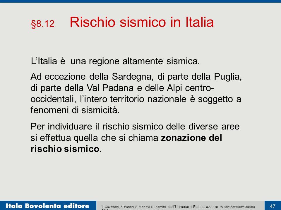 §8.12 Rischio sismico in Italia