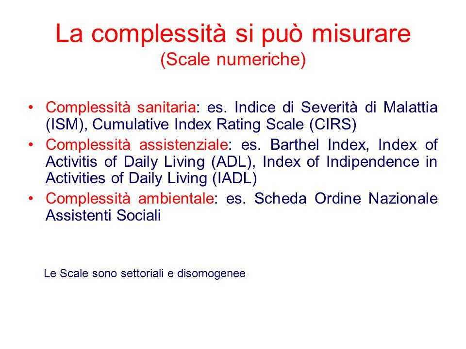 La complessità si può misurare (Scale numeriche)