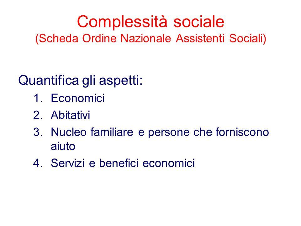 Complessità sociale (Scheda Ordine Nazionale Assistenti Sociali)