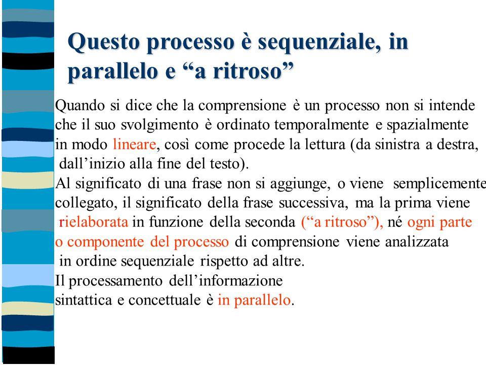 Questo processo è sequenziale, in parallelo e a ritroso