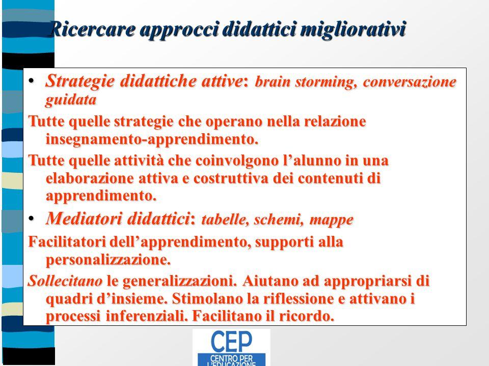 Ricercare approcci didattici migliorativi