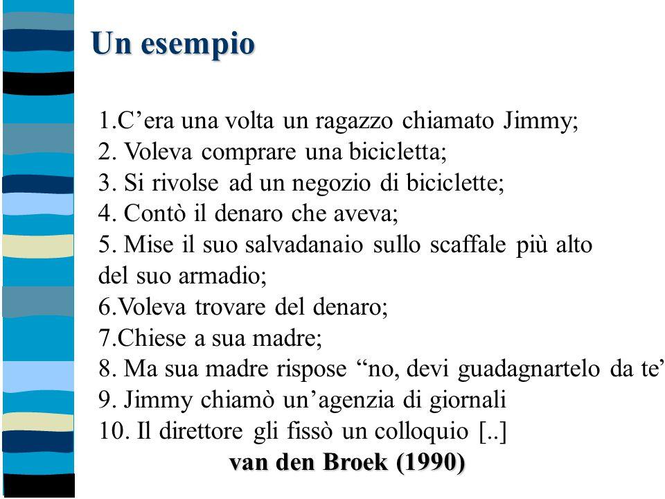 Un esempio 1.C'era una volta un ragazzo chiamato Jimmy;
