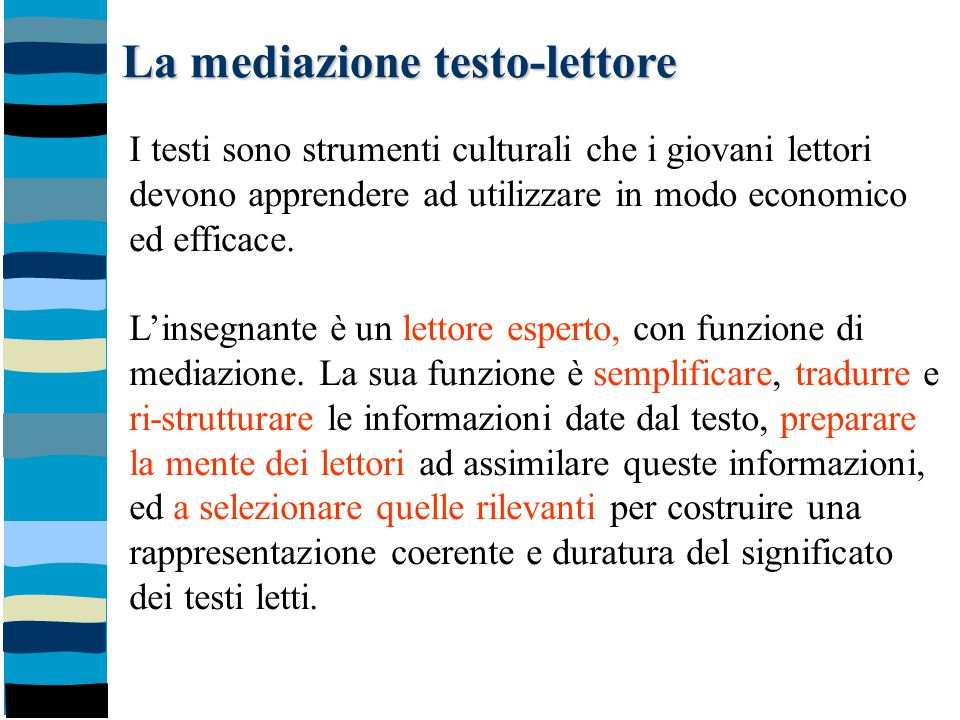 La mediazione testo-lettore