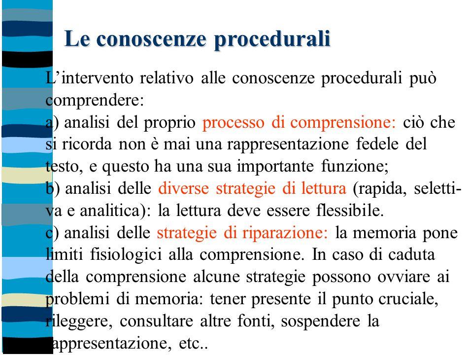 Le conoscenze procedurali