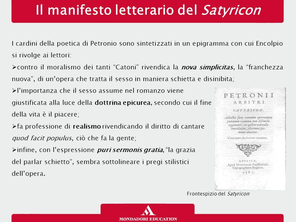 Il manifesto letterario del Satyricon