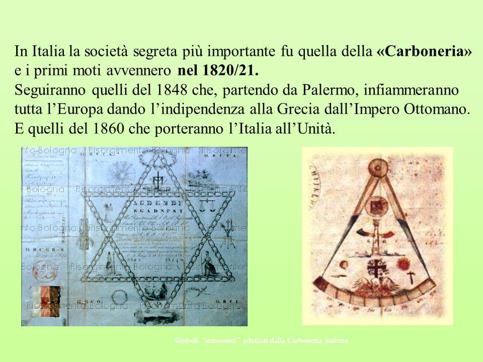E quelli del 1860 che porteranno l'Italia all'Unità.
